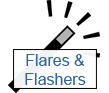 flares and flashers